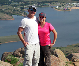 photo of couple on Mount Scott